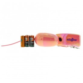 Розовое виброяйцо на дистанционном пульте управления